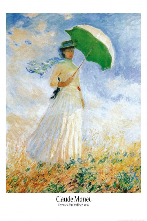 CLAUDE MONET Femme au Parasol Print 24x36 POSTER