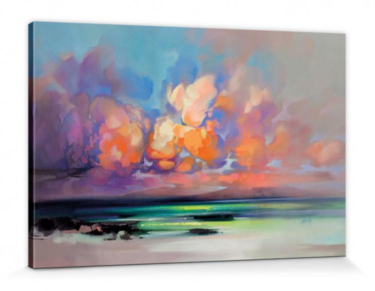 Scott Naismith - Organic Cloud Poster Leinwand-Druck Bild (120x80cm)  126910