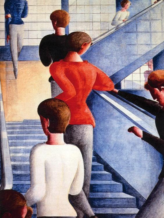 Bauhaustreppe Poster Leinwand-Druck Bild #117074 80x60cm Oskar Schlemmer