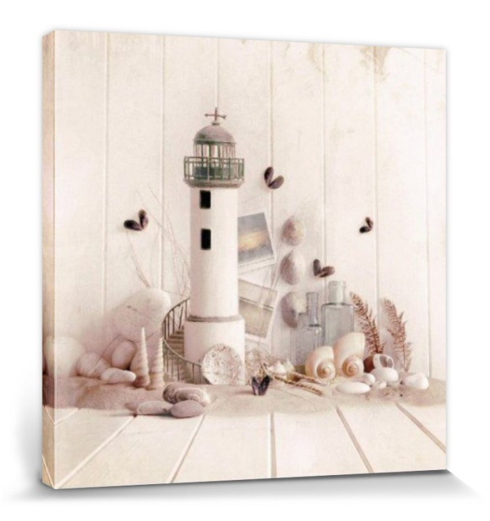 Top Bild Kunstdruck auf Leinwand Wandbild Leuchtturm in Holland 40 cm*40 cm 311
