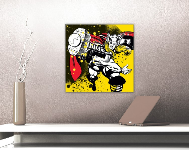 80x60cm #68208 Thor Marvel Comics Cover Poster Leinwand-Druck