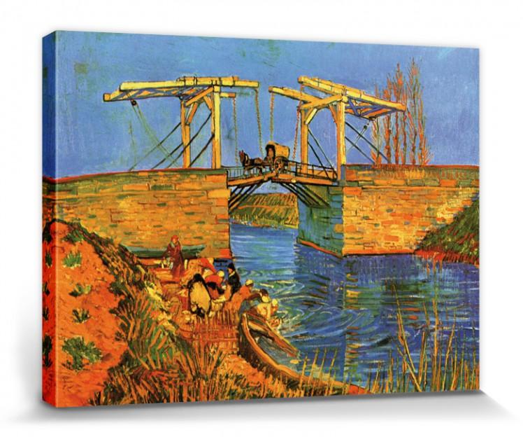 #111448 Vincent Van Gogh 40x30cm Brücke Bei Arles Poster Leinwand-Druck Bild
